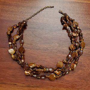 Banana Republic Brown Beaded Necklace